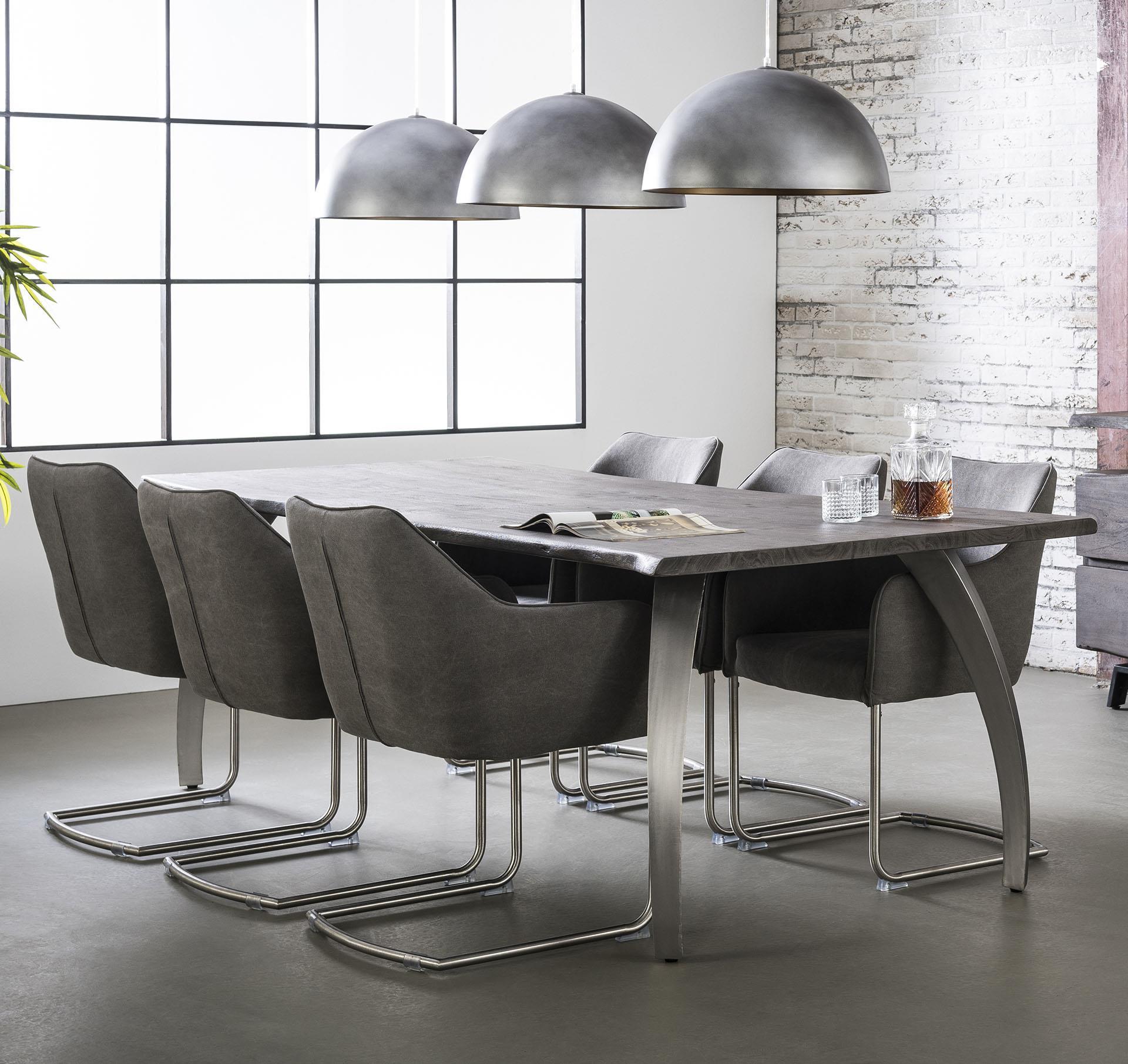 Eettafel 'Stam' 200 x 100cm, kleur leem