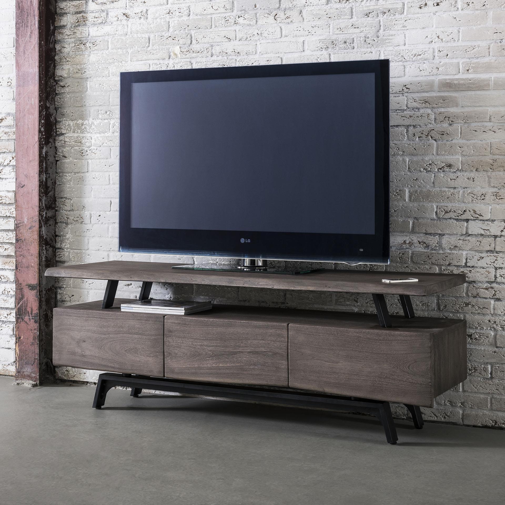 Tv Meubel Bovenkast.Tv Meubel Stam 165cm Kleur Leem Kasten Tv Meubels Interieur