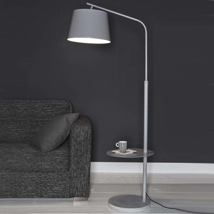Vloerlamp 'Cammie', kleur Grijs