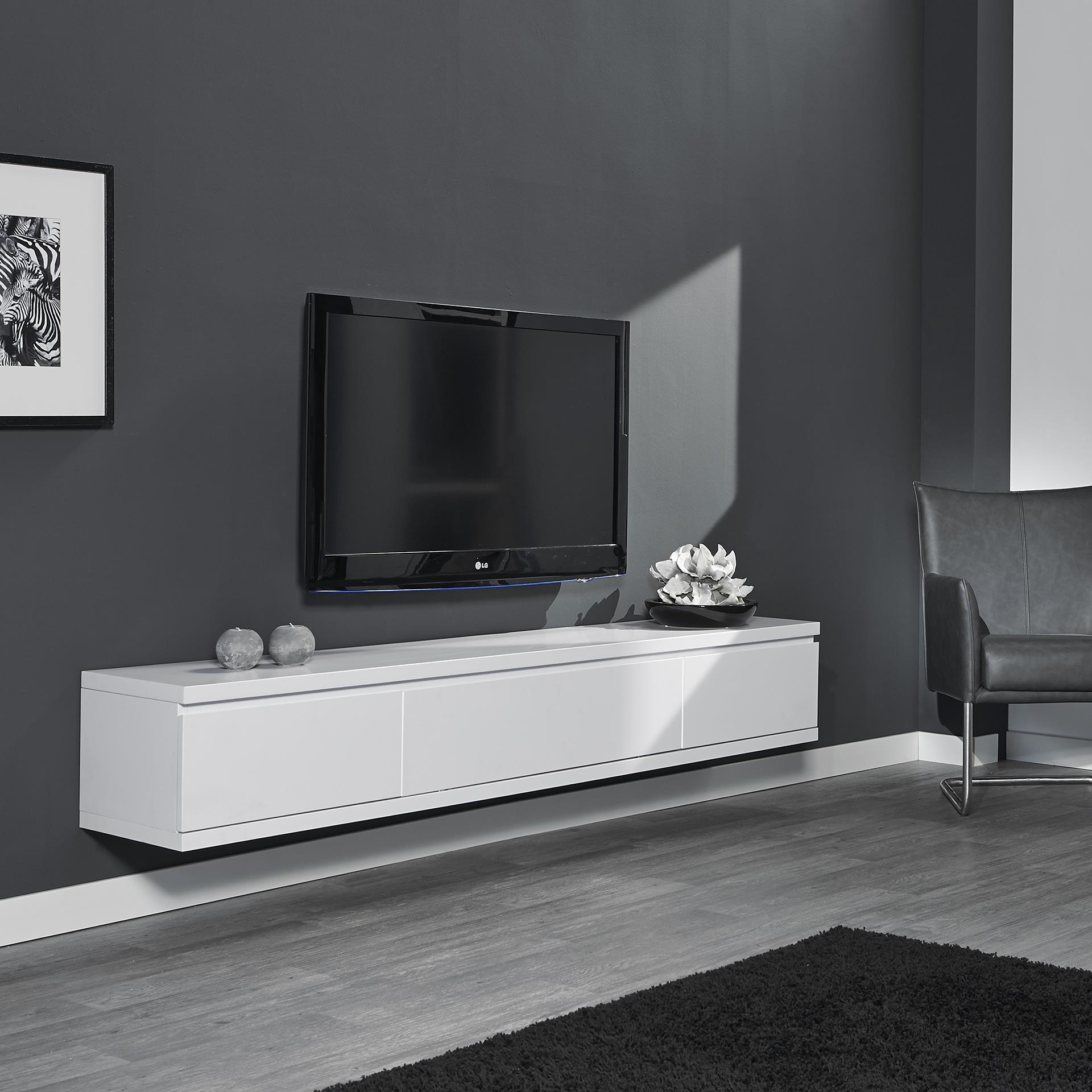 Hangend Tv Meubel 120 Wit in de aanbieding kopen