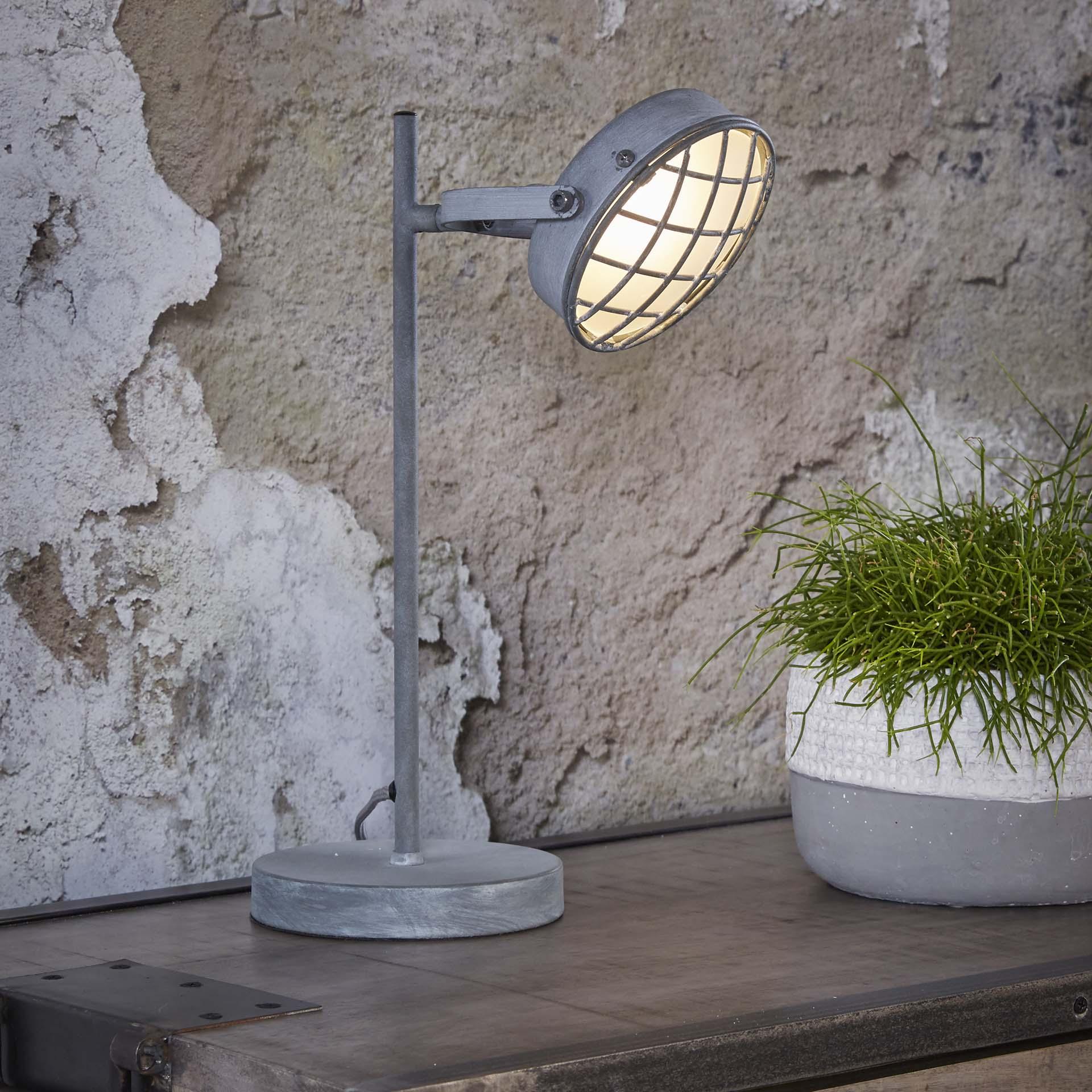 Tafellamp 'Brendan' betonlook LED Verlichting | Tafellampen