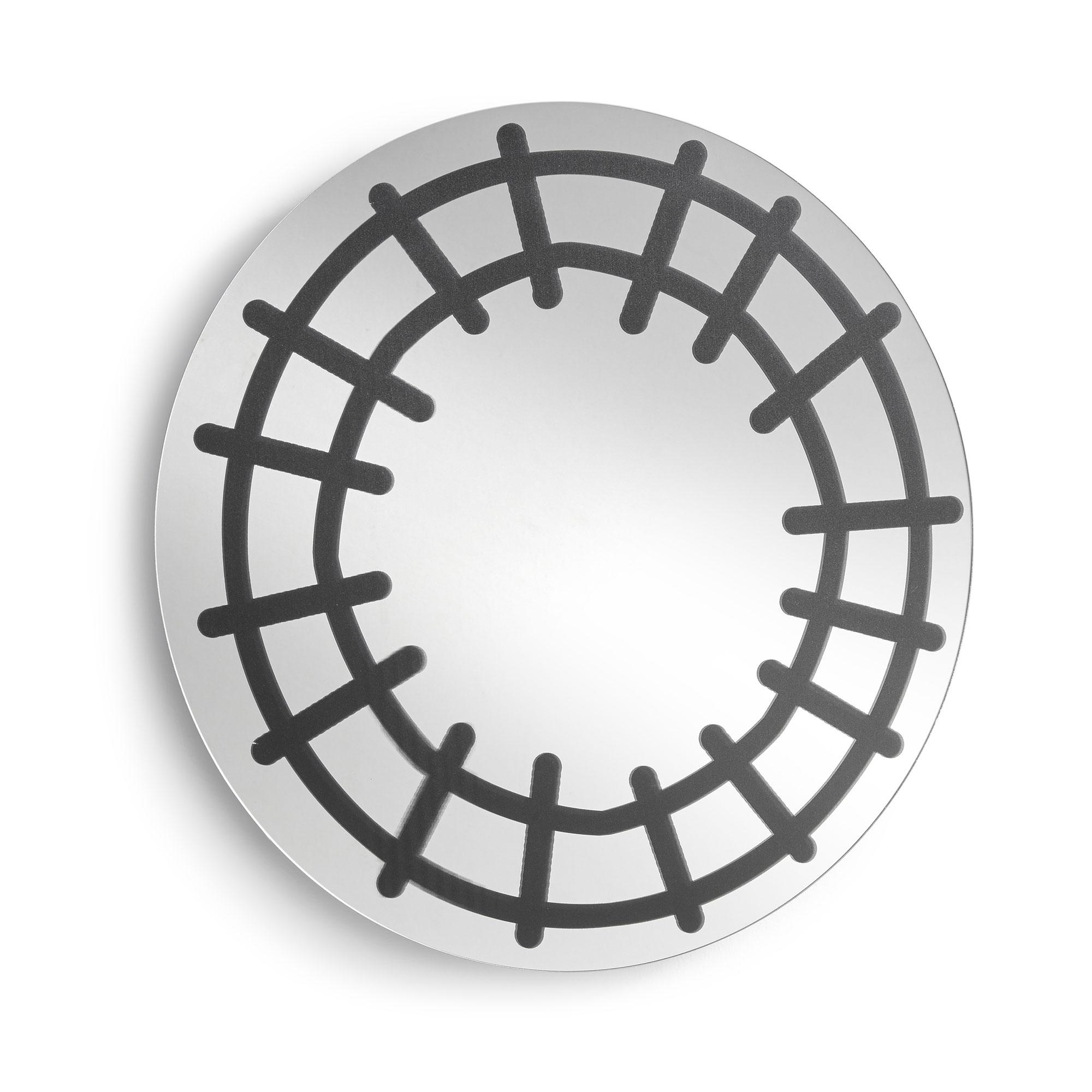 LaForma ronde spiegel 'Chantel', kleur Zwart