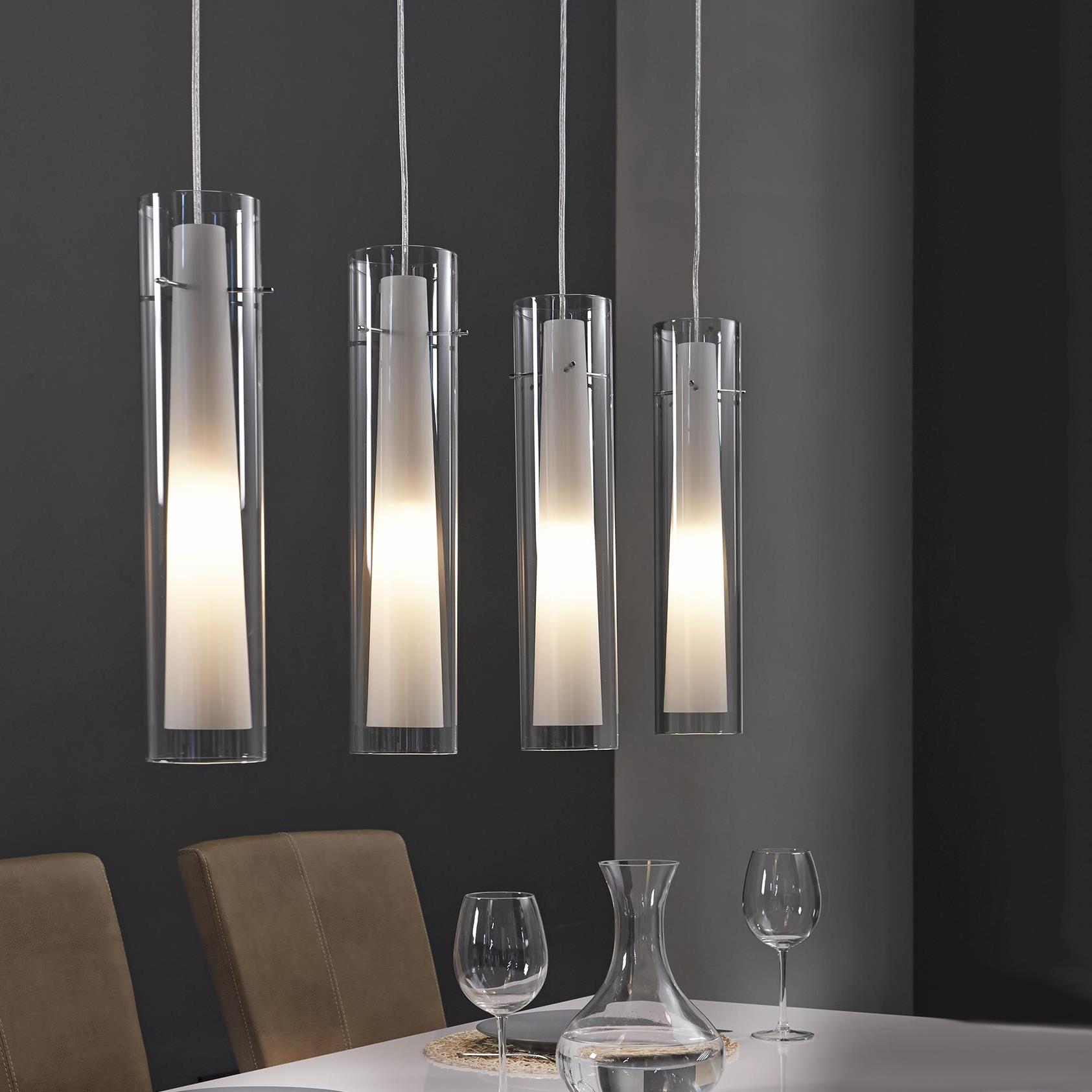Glazen Hanglamp 'Patty', 4 Lamps