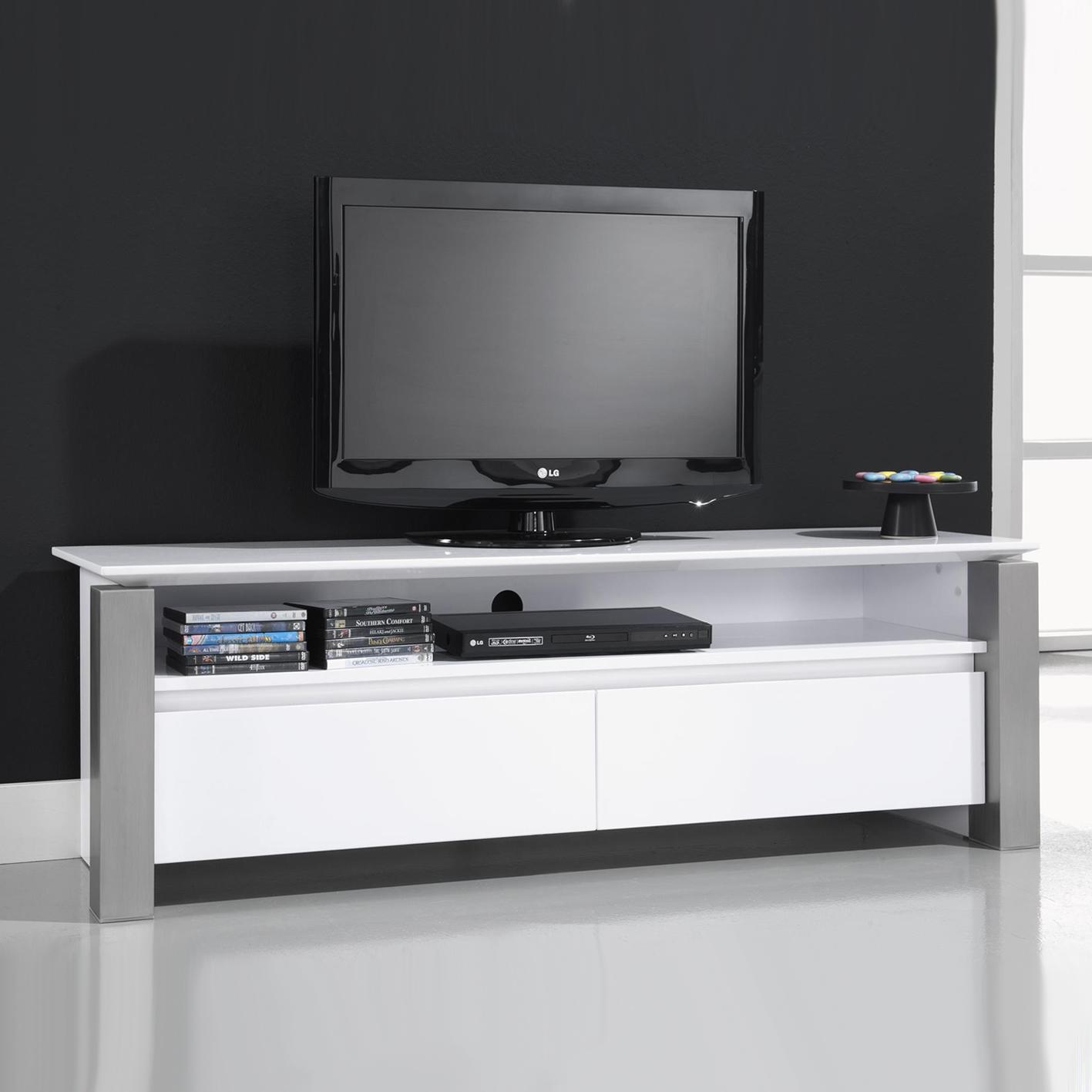 tv kopen. zwevend tv meubel cameron 120 cm mat wit zaloni in de aanbieding kopen -\u003e lowboard hoogglans