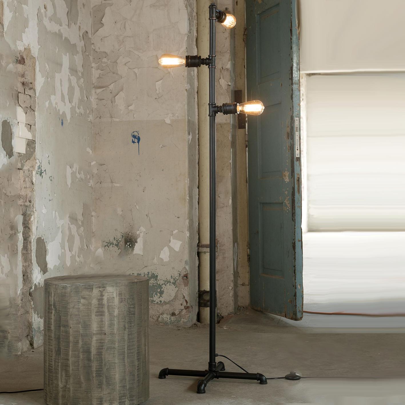 retro vloerlamp Louella 3-lamps